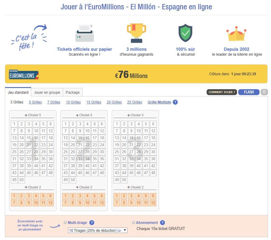 Prochain Super Jackpot EuroMillions